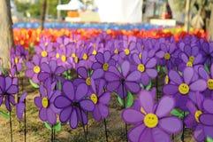 Un grupo de molino de viento de la flor de los juguetes Imagenes de archivo