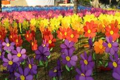 Un grupo de molino de viento de la flor de los juguetes Imagen de archivo libre de regalías