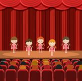 Un grupo de muchachas que se realizan en etapa libre illustration