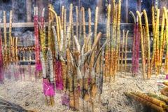 Un grupo de palillos del incienso Imagen de archivo