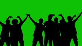 Un grupo de personas en un fondo verde libre illustration