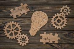 Un grupo de piezas de madera creación imagen de archivo