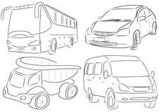 Un grupo de vehículos Imagen de archivo