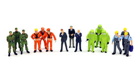 Un grupo diverso de trabajadores