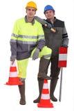 Un gruppo delle guardie di traffico Fotografia Stock Libera da Diritti