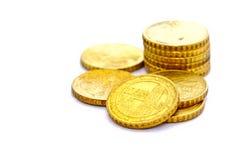 Un gruppo di 10 bobine del centesimo dell'euro Fotografia Stock