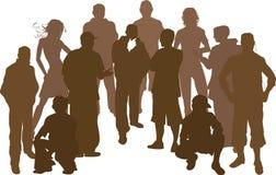 Un gruppo di 12 amici Immagine Stock Libera da Diritti