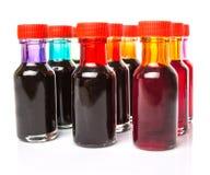 Un gruppo di additivi di colore di alimento II immagini stock