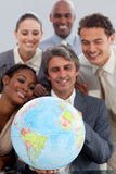 Un gruppo di affari che mostra diversità etnica Immagine Stock
