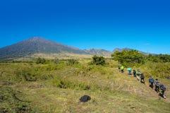 Un gruppo di alpinisti Rinjani Lombok Indonesia Fotografia Stock Libera da Diritti