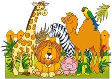 Un gruppo di animali selvatici Illustrazione di Stock