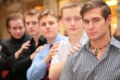 Un gruppo di cinque amici Immagine Stock Libera da Diritti