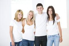 Un gruppo di compagni felici Fotografia Stock Libera da Diritti