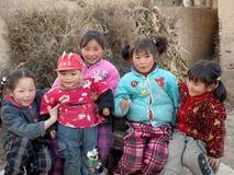 Un gruppo di fotografo del fronte di sorriso delle ragazze Immagine Stock Libera da Diritti