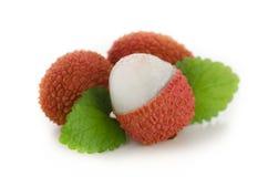 Un gruppo di lychees fresche Fotografie Stock