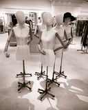 Un gruppo di manichini nudi Fotografie Stock Libere da Diritti