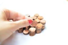 Un gruppo di monete Immagine Stock