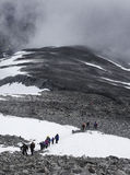 Trekking sulla montagna Immagine Stock Libera da Diritti
