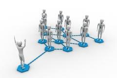 Un gruppo di persone genera una rete Illustrazione Vettoriale