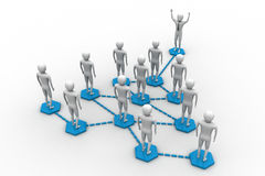 Un gruppo di persone genera una rete Illustrazione di Stock