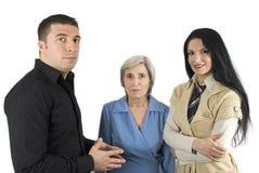 Un gruppo di tre genti di affari Immagini Stock