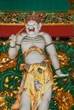Un guarda en la puerta de Yashamon en la capilla de Taiyuinbyo Foto de archivo libre de regalías