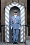 Un guardia en el castillo de Praga Imagen de archivo libre de regalías