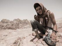 Un guide bédouin dans PETRA images stock