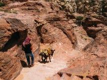 Un guide bédouin dans PETRA image libre de droits