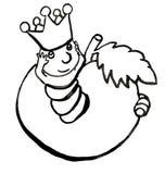 Un gusano en blanco y negro libre illustration