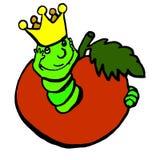Un gusano a los colores ilustración del vector