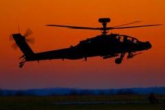 Coucher du soleil d'Apache photo libre de droits