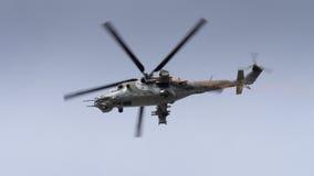 Un hélicoptère HIND soviétique de l'ère Mi-24 Image stock