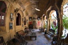 Un hôtel de palais dans Jaisalmer, Inde Image stock