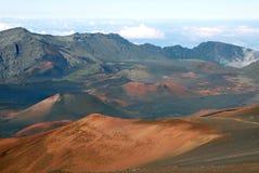 un haleakala dei 9 crateri Fotografie Stock
