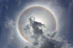 un halo du soleil de phénomène optique Photos libres de droits