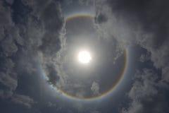 un halo du soleil de phénomène optique Images libres de droits