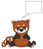 Un happy red panda and blank sign Royalty Free Stock Photography