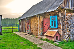 Un hdr typique de maison de village Image libre de droits