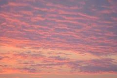 Un hermoso de la puesta del sol en tiempo de la tarde Fotos de archivo