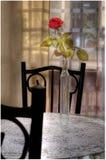 Un hermoso subió en una tabla del diseño Fotografía de archivo libre de regalías