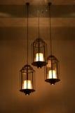 Un hierro y una lámpara del arte Fotos de archivo