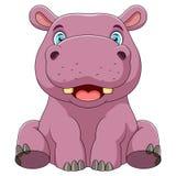 Un hippopotame de ch?ri illustration de vecteur