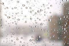 Un hiver pleuvant le jour Photographie stock libre de droits