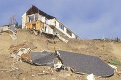 Un hogar en Pacific Palisades caido parcialmente Fotografía de archivo