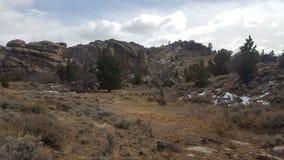 Un holler sur la chaîne de montagne de Laramie Photo libre de droits