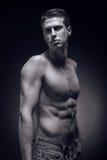 Un hombre adulto joven, caucásico, modelo de la aptitud, cuerpo muscular, sh Imagen de archivo