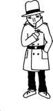Un hombre con el cigarro stock de ilustración