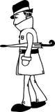 Un hombre con el paraguas libre illustration