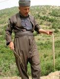 Un hombre con una serpiente Imagen de archivo libre de regalías